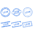 Live stamps vector image