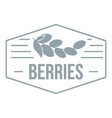 berries logo simple gray style vector image
