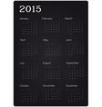 calendar 2015 on black texture vector image