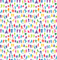 Colorful children silhouettes seamless vector image