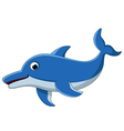 dolphin cartoon for you design vector image