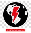 Earth Shock Eps Icon vector image