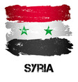 flag of syria from brush strokes vector image