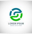 round circle environment logo vector image