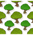 seamless pattern of green trees cartoon design vector image