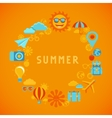summer poster in flat style vector image
