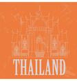 Thailand landmarks Retro styled image vector image