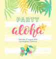 tropical beach party banner template vector image