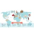 World landmarks on map vector image