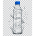 Plastic bottle with mineral water vector image