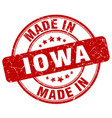 made in iowa red grunge round stamp vector image