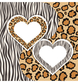 Zebra and Leopard vector image