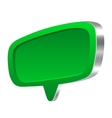 Green 3d speech bubble vector image vector image