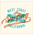 Retro Print Style Surfing Label or Logo vector image