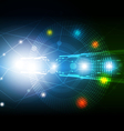 network technology background design vector image