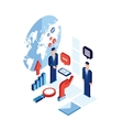 Businessman isometric people Successful business vector image