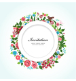 card flower vector image