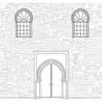 door way background in muslem style oriental vector image