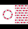 I love U Pattern and Circle vector image