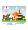 Landmarks and symbols of Japan vector image