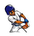 man playing baseball vector image