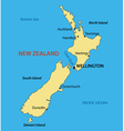 New Zealand - map vector image