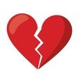 red heart broken sad separation vector image