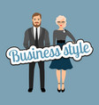 retro style business fashion couple vector image