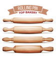 rolling pin set  cooking dough equipment vector image