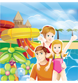 summer family vector image