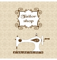 Vintage ornate seamless pattern with retro sewing vector image