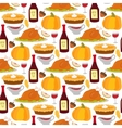 Happy Thanksgiving food seamless pattern vector image
