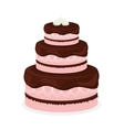 sweet cake icon vector image