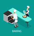isometric baking concept vector image