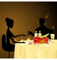 Couple taking Candle Light Dinner vector image