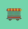 circus wagon icon in flat style isolated on white vector image vector image