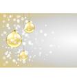 Golden baubles card vector image