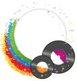 Vinyl records vector image