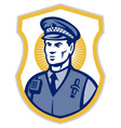 police officer policeman security guard set i vector image