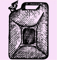 gas can gasoline jerrycan canister vector image