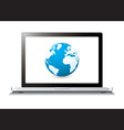 Modern laptop with world wide web vector image