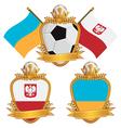 poland and ukraine emblems vector image
