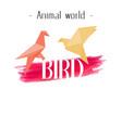 animal world bird paper bird background ima vector image