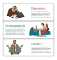 Concept psychotherapy of three vector image