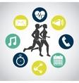 fitness center design vector image