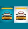 retro tram xxl icon vector image