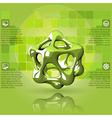 Scientific green infographics vector image