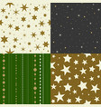 seamless pattern star vector image