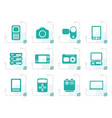 stylized technical media and electronics icons vector image