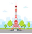 tokyo tv tower vector image